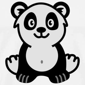 Cute panda bear Undertøy - Premium T-skjorte for menn