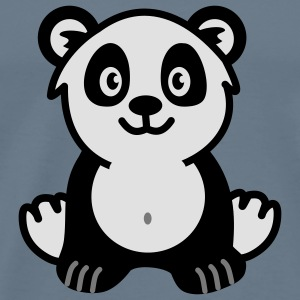 Cute panda bear Baby Body - Männer Premium T-Shirt