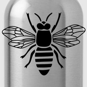 bee t-shirt i love honey bumble bee honeycomb beekeeper wasp sting busy insect wings wildlife animal - Water Bottle