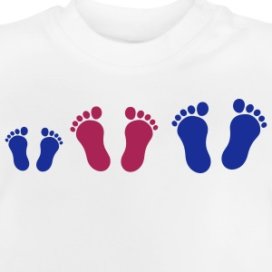 footprint_family_with_boy_2c Kinder shirts - Baby T-shirt