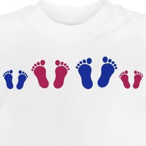 footprint_family_2c Kinder shirts - Baby T-shirt