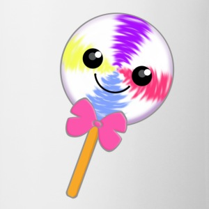 Cute Little Kawaii Lollipop with Pink Bow Tie - Mug