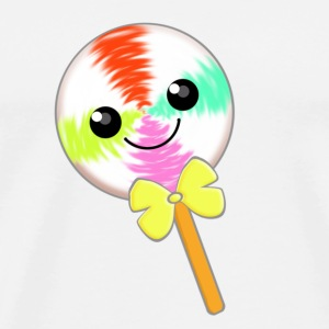 Cute Little Kawaii Lollipop with Yellow Bow Tie - Men's Premium T-Shirt
