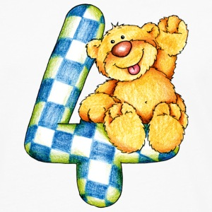 Sweet little bear and the 4 T-shirts - Mannen Premium shirt met lange mouwen