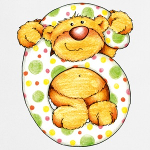Sweet little bear and the 6 T-shirt - Grembiule da cucina