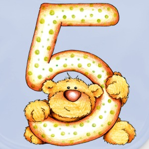 Sweet little bear and the 5 Kinder shirts - Bio-slabbetje voor baby's