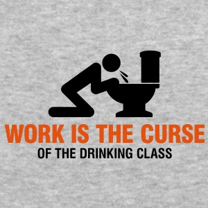 Work Is The Curse 2 (2c)++ Sweatshirts - Herre Slim Fit T-Shirt