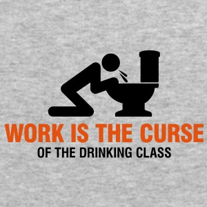 Work Is The Curse 2 (2c)++ Pullover - Männer Slim Fit T-Shirt
