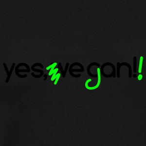 Kapuzenpullover Yes, we can vegan! + neon pink - Männer Premium T-Shirt