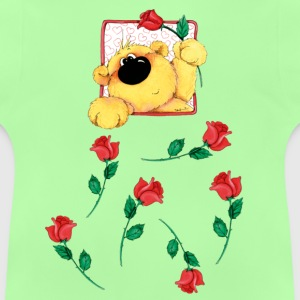The bear and roses Barnegensere - Baby-T-skjorte