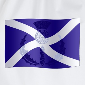 Scottish Saltire Flag with Celtic Thistle - Drawstring Bag