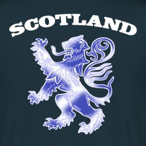 Scotland with Lion Rampant and Saltire Flag - Men's T-Shirt