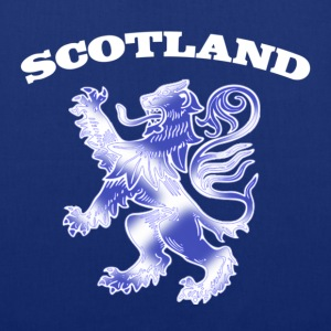 Scotland with Lion Rampant and Saltire Flag - Tote Bag