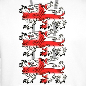 Three English Lion Passants with St George's Cross - Men's Premium Hoodie