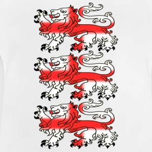 Three English Lion Passants with St George's Cross - Baby T-Shirt