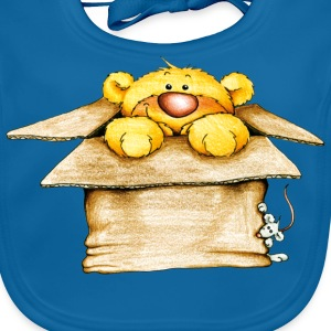 Bear in the box Kinder shirts - Bio-slabbetje voor baby's