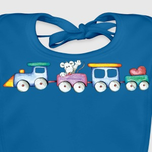 Cute little train Barn-T-shirts - Ekologisk babyhaklapp