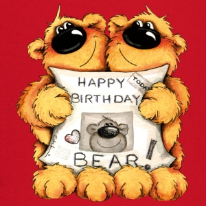 Happy Birthday, Bear T-skjorter - Langarmet baby-T-skjorte