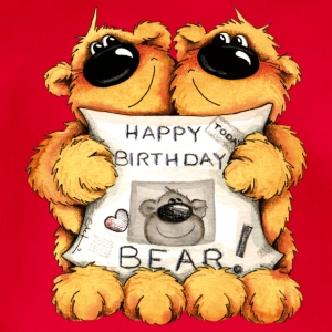 Happy Birthday, Bear Kinder sweaters - Baby bio-rompertje met korte mouwen