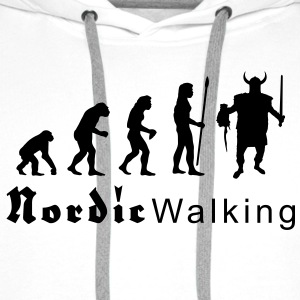 evolution_nordicwalking1 T-shirts - Sweat-shirt à capuche Premium pour hommes