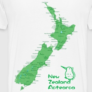 New Zealand's Map Hoodies & Sweatshirts - Men's Premium T-Shirt