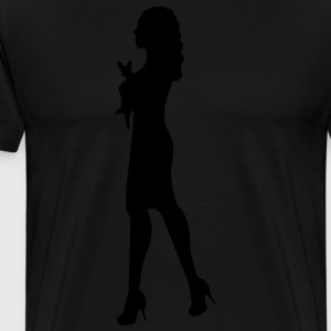 Woman Carrying a Chihuahua Bags  - Men's Premium T-Shirt