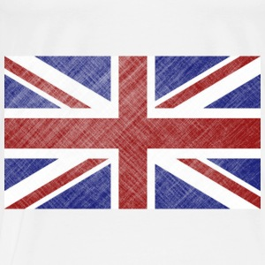 Double-sided Grunge Union Jack Flag of Great Britain & Northern Ireland - Men's Premium T-Shirt