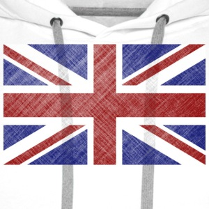 Grunge Union Jack Flag of Great Britain & Northern Ireland - Men's Premium Hoodie