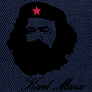 Karl Marx portrait with Beret  Hoodies & Sweatshirts - Snapback Cap