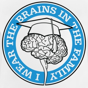 Wear The Brains 1 (dd)++ Barn-T-shirts - Baby-T-shirt