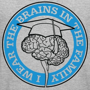 Wear The Brains 1 (dd)++ Sweatshirts - Herre Slim Fit T-Shirt