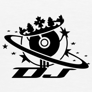 DJ logo with a record as a planet with rings of Saturn and crown Underwear - Men's Premium T-Shirt