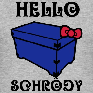 Hello Schrödy, Schrödinger's cat Hoodies & Sweatshirts - Men's Slim Fit T-Shirt