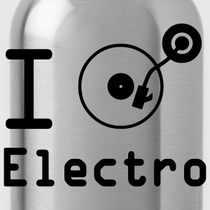 I play Electro / I Love Electro / vinile DJ T-shirt - Borraccia