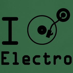 I play Electro / I Love Electro / vinyl DJ Hoodies & Sweatshirts - Cooking Apron