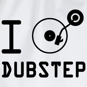 I play Dubstep / I love Dubstep / DJ  Vinyl Pullover - Turnbeutel