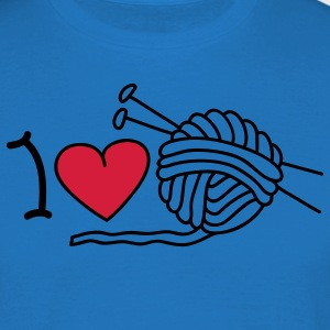 I love needlework Forklæder - Herre-T-shirt