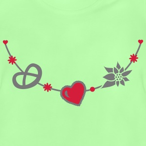 Dirndl jewelry with pretzel, gingerbread heart and Edelweiss Bags  - Baby T-Shirt