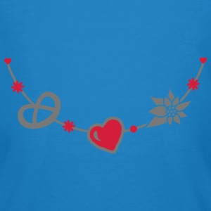 Dirndl jewelry with pretzel, gingerbread heart and Edelweiss Bags  - Men's Organic T-shirt
