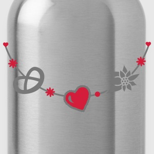 Dirndl jewelry with pretzel, gingerbread heart and Edelweiss Umbrellas - Water Bottle