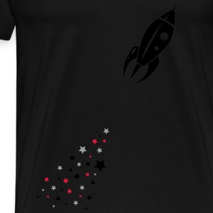 Some stars as rocket tail for a rocket Kids' Tops - Men's Premium T-Shirt