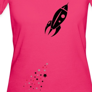 Some stars as rocket tail for a rocket Bags  - Women's Organic T-shirt