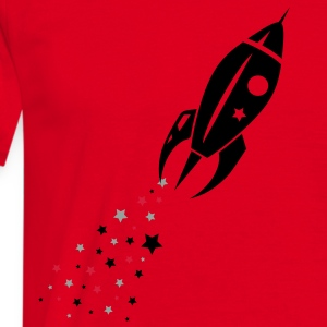 Some stars as rocket tail for a rocket  Aprons - Men's T-Shirt