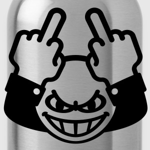 Stinkefinger Emoticon (fuck off / - you) Hoodie - Trinkflasche