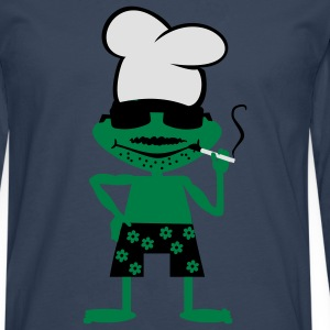 Cooking frog  Aprons - Men's Premium Longsleeve Shirt