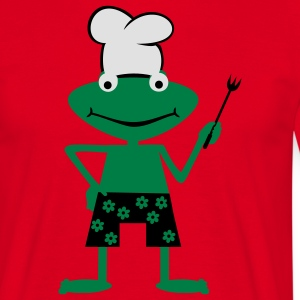 Cooking frog  Aprons - Men's T-Shirt