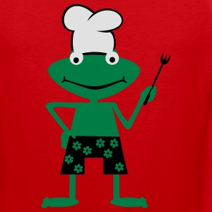 Cooking frog  Aprons - Men's Premium Tank Top