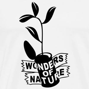 'Wonders of Nature' Dame hættetrøje - Herre premium T-shirt