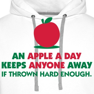An Apple A Day 1 (2c)++ T-Shirts - Men's Premium Hoodie