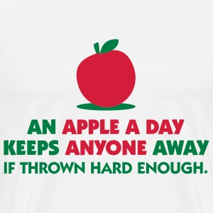 An Apple A Day 1 (2c)++  Aprons - Men's Premium T-Shirt
